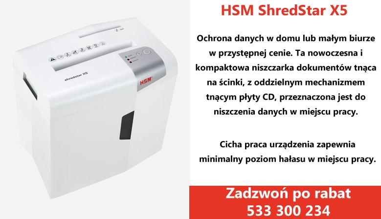 NIszczarka HSM Shredstar X5